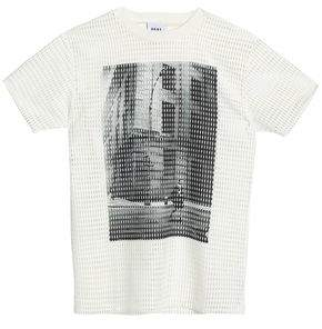 DKNY Laser-Cut Printed Jersey T-Shirt