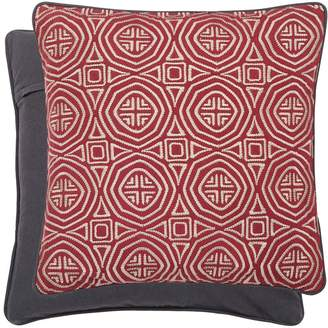 Amaya Bedeck 1951 - Dark Red Cotton 'Amaya' Embroidered Cushion