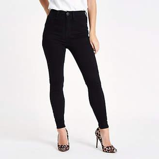 River Island Petite black Harper high rise skinny jeans