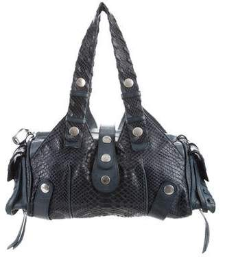 Chloé Leather-Trimmed Snakeskin Hobo