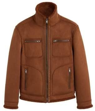 Mango man MANGO MAN Faux shearling-lined jacket