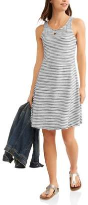 Thyme & Honey Women's Fit and Flare Stripe Dress