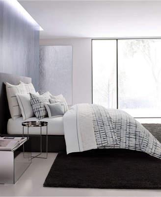 Vera Wang Shibori Grid White Comforter Set, King Bedding