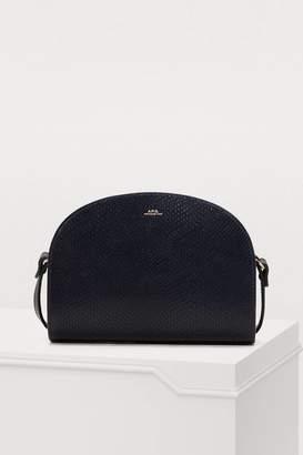 A.P.C. Half-moon leather bag