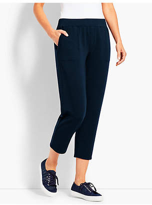 Talbots Essential Terry Straight-Leg Crop