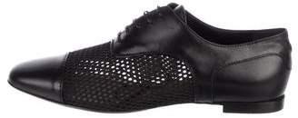 Emporio Armani Leather Mesh-Accented Oxfords