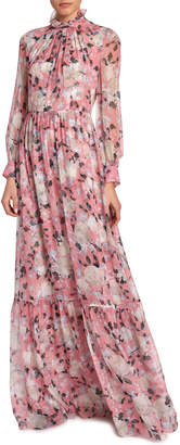 Erdem Clementine Floral-Print Gown
