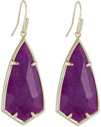 Kendra Scott Carla Statement Earrings - Purple Jade