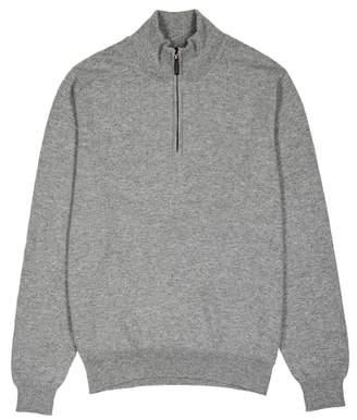 Johnstons of Elgin Grey Zipped Cashmere Jumper