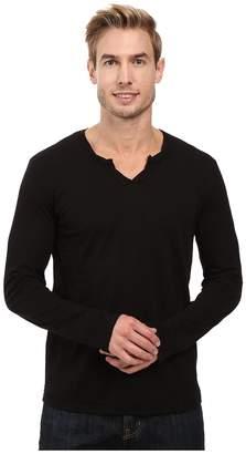 Mod-o-doc Les Carillo Long Sleeve Notch Slub Jersey V-Neck Men's Clothing