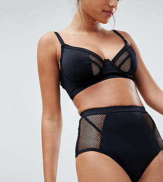 Asos DESIGN FULLER BUST Exclusive Fishnet Corset High Waist Bikini Bottom