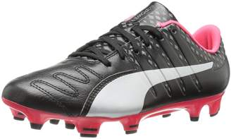 Puma Men's Evopower Vigor 3 Lth FG Soccer Shoe, Black Silver/Quiet Shade/Bright Plasma