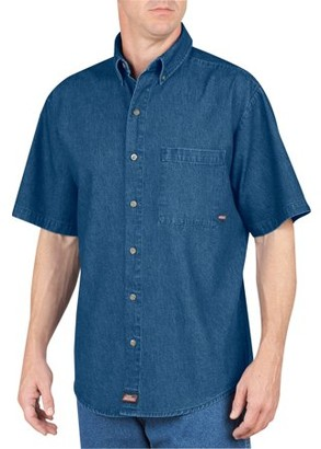 Dickies Big Men's Short Sleeve Denim Shirt