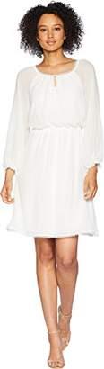 Adrianna Papell Women's Long Sleeve Blouson Dress