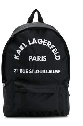Karl Lagerfeld logo embroidered backpack