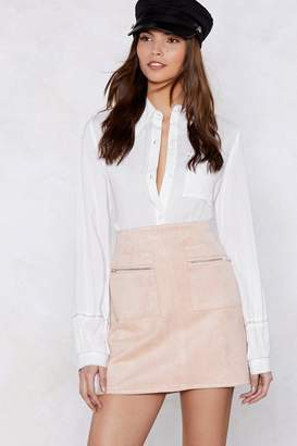 Nasty Gal Looks Suede Mini Skirt