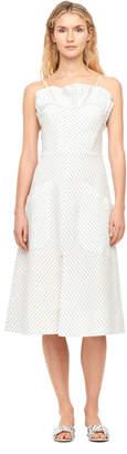 Rebecca Taylor Multi Color Stripe Ruffle Dress