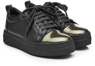 Brunello Cucinelli Leather Sneakers with Platform