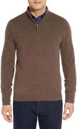 Nordstrom Regular Fit Cashmere Quarter Zip Pullover