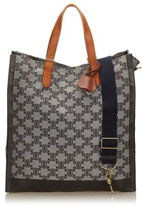 Celine Vintage Macadam Jacquard Tote Bag