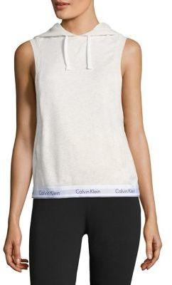 Calvin Klein Sleeveless Hoodie $79 thestylecure.com