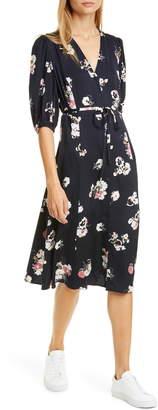 Nordstrom Signature Button Front Stretch Silk Dress