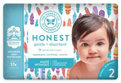 The Honest Company Honest 32-Pack Size 2 Diapers in Painted Feathers Pattern