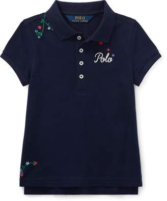 Ralph Lauren Embroidered Stretch Pique Polo