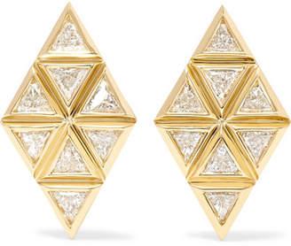 Chloé Melissa Kaye Violet 18-karat Gold Diamond Earrings - one size