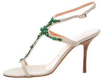Vera Wang Embellished Ankle Strap Sandals
