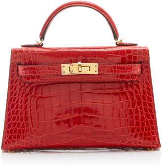 Hermes Heritage Auctions Special Collections 20cm Geranium Shiny Alligator Mini Kelly