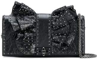 Valentino Garavani ruffled bow microstud bag