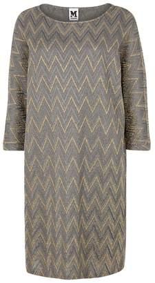 M Missoni Zigzag-jacquard Fine-knit Dress