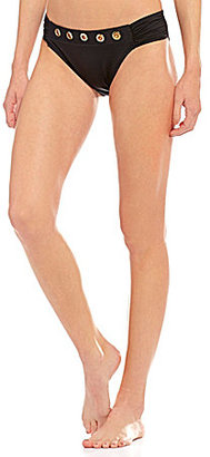 La Blanca Eyes On You Side Shirred Hipster Bottom $51 thestylecure.com