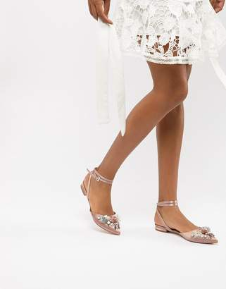 Asos Design Love Struck Bridal Ballet Flats