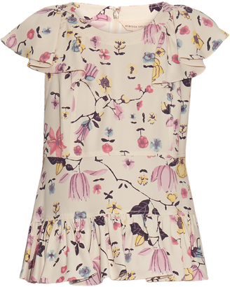 REBECCA TAYLOR Floral-print silk-crepe top $350 thestylecure.com
