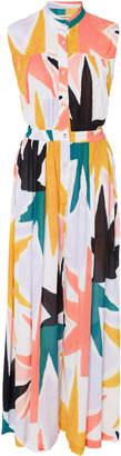 Mara Hoffman Printed Crinkled Voile Jumpsuit $325 thestylecure.com