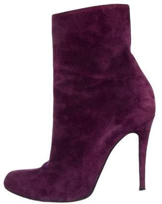 Christian Louboutin Suede Pointed-Toe Booties
