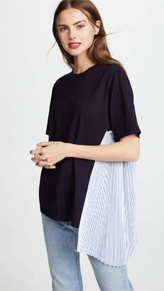 Clu T-Shirt with Stripe Pleats