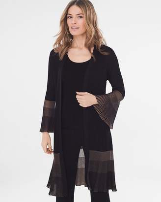 Travelers Collection Pleat-Detail Cardigan