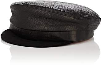 Lafayette House of Women's Leather & Suede Fisherman Cap