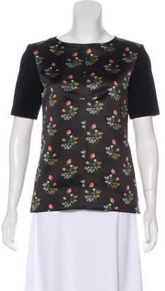 Derek Lam Printed Short Sleeve Top