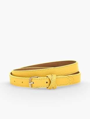 Talbots Leather Belt - Pebble Leather