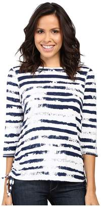 FDJ French Dressing Jeans Cloud Stripe Top Women's Long Sleeve Pullover