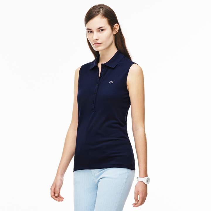LACOSTE Women's Stretch Mini Pique Polo Shirt