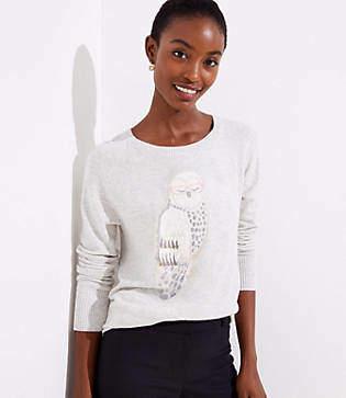 LOFT Owl Sweater