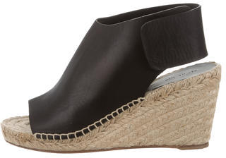 Celine Céline Leather Espadrille Wedges