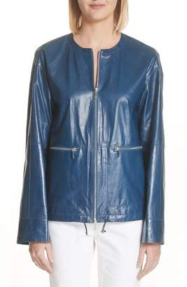 Lafayette 148 New York Fleming Leather Jacket