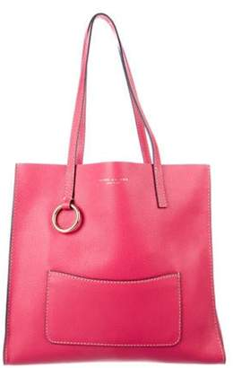 Marc Jacobs Grained Leather Tote Fuchsia Grained Leather Tote