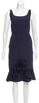 Oscar de la Renta Silk Ruffle Dress